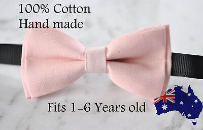 Boy Kids Baby 100% Cotton Baby Pink Bow Tie Bowtie Party Wedding 1-6 Years Old