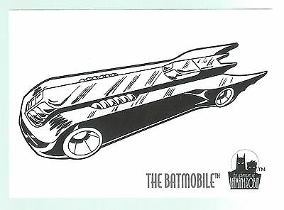 The Adventures Of Batman & Robin Coloring Card C9 The Batmobile Skybox 1995 Good
