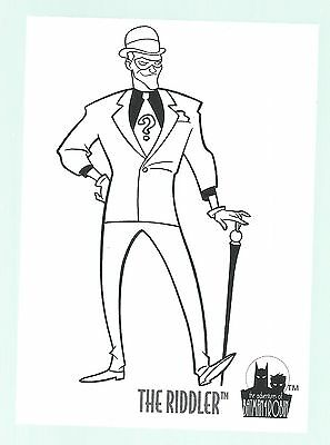 The Adventures Of Batman & Robin Coloring Card C7 The Riddler Skybox 1995 Good