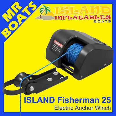 ANCHOR DRUM WINCH ✱ ISLAND FISHERMAN Model 25 ✱ Suits boats up to 20ft - 6m NEW