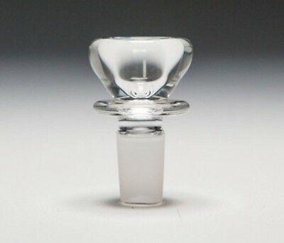 14mm Male Clear Glass Slide Bowl - USA Thick Slide