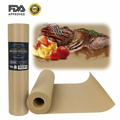 "Butcher Kraft Paper Roll - 18 "" x 175' 2100""  Food Grade acking paper All"