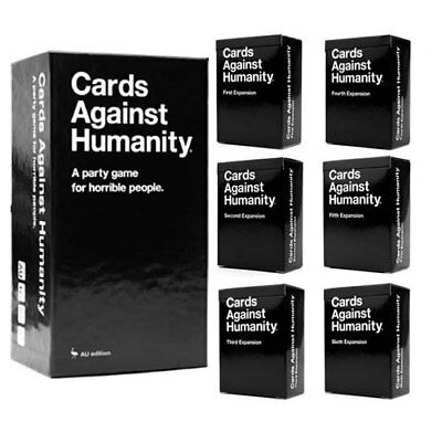 Cards Against Humanity AU Base 2.0 Version + 1-6 Expansion Board Game Card Game