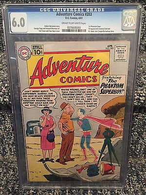 Adventure Comics #283 CGC 6.0 1st General Zod 1st Phantom Zone Silver Age DC
