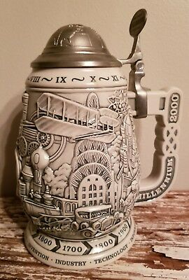 Avon collectable Lidded Beer Stein 1999 Millennium 2000 - 1000 yr. Of history