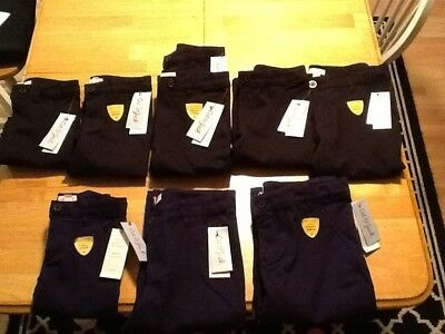 Cat & Jack Girls School Uniforms Pants Ebony And Navy NEW