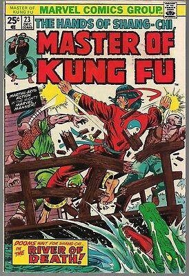 "Master Of Kung Fu #23 Marvel 12/74 The Hands Of Shang-Chi ""river Of Death!"" Vf-"