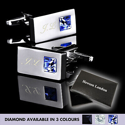 Personalised Stainless Mens Wedding Gift Cufflinks Engraved Fathers Day Gift