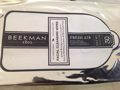 Beekman 1802 Facial Cleansing Wipes 30 count (FRESH AIR)