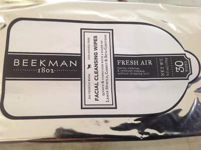 Beekman 1802 Facial Cleansing Wipes t (FRESH AIR) 30 count wipes