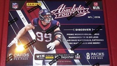 2016 PANINI Absolute Football 8 Pack Blaster Box Wentz Goff RCs Autos Possible