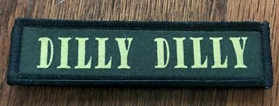 1x4 Tactical Dilly Dilly Morale Patch  ARMY Military Flag Bud Light Badge Hook