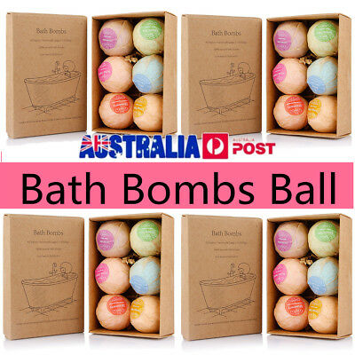 24Pcs Aromatherapy Bubble Bath Bombs with Coconut Oil GIFT Bath Fizzies