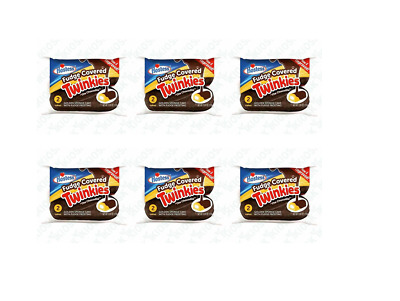 "911222 6 x 108g PACKETS OF HOSTESS FUDGE COVERED TWINKIES ""THE CHOCODILE"" CAKE"