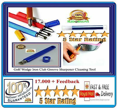 Golf Groove Sharpener Iron & Wedge .Club Cleaner Cleaning Grooving Tool.