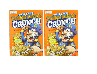 907706 2 x 355g BOXES OF CAP'N CRUNCH'S PEANUT BUTTER CRUNCH CEREAL AMERICAN
