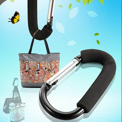 Stroller Door Slip-Resistant Hanging Carrier Holder Stroller Shopping Bag Hook