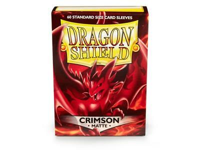 Dragon Shield Mat Crimson 100 Protective Sleeves Cases Standard kartenhhülle