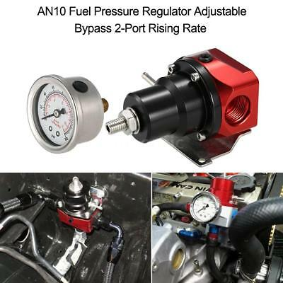 AN10 Fuel Pressure Regulator Adjustable Bypass 2-Port Rising Rate Universal U8P1