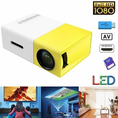 LED mini Projector Full HD Ultra Portable And Incredibly Bright New 2.0 Versied