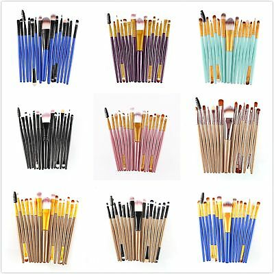 15Pcs Pro Makeup Brushes Set Cosmetic Make Up Brush Beauty Tool Synthetic Haired
