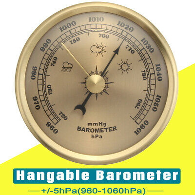 Wall Hanging Barometer Thermometer Weather Meter Air Pressure 70MM 960-1060hPa