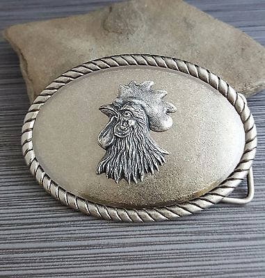 Handmade Antique Silver Steampunk Rooster Belt Buckle
