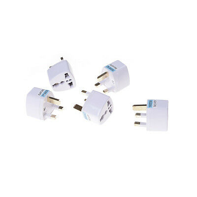 2x EU US AU a UK AC Power socket Plug viaje adaptador convertidor