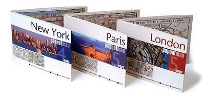 Pop Out Maps - European Cities Travel Pocket Size Fold Up EXPRESS DELIVERY