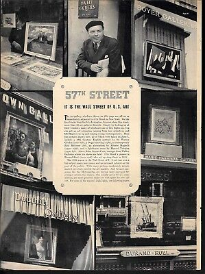 1938 Wall Street U.S. Art 57th Street 5 page Photos Art Article Text Print