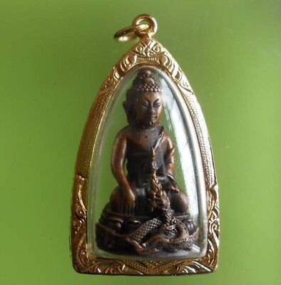 Gorgeous Phrakring Lp Kambu Old Thai Buddha Amulet Very Rare !!!