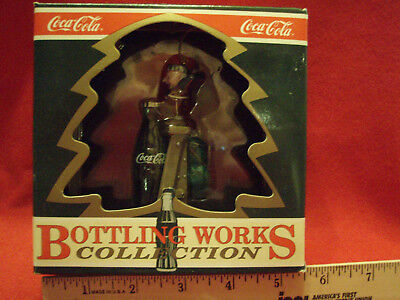 """Coca-Cola Bottling Works Collection Ornament """"tops On Refreshment"""" 1995  Nib"""