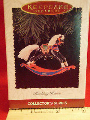 Hallmark BLACK ROCKING HORSE KEEPSAKE Ornament NIB~
