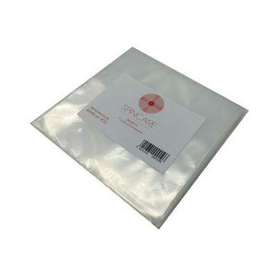 "7"" Inch 400 Gauge Polythene Plastic Outer Vinyl Record Sleeves Covers 100 Pack"