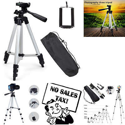 "50"" Compact Professional Tripod Aluminum Tabletop for Digital Camera with Holder"