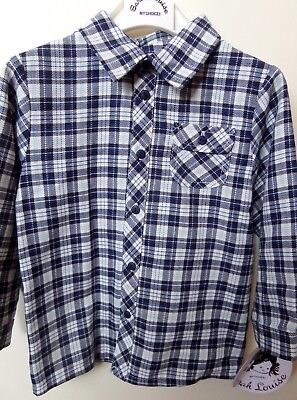 Sarah Louise Blue And White Baby Boys Checked Shirt Aged 18 Months