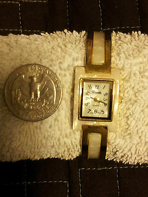Xanadu White And Gold Tone, Mother Of Pearl Bracelet Watch