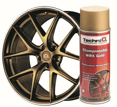Alloy Wheel Paint Spray Championship WRX Gold 400ml Can TechniQ WRX