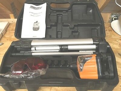 Johnson Rotary Laser Level Kit Model 40-0918 With Original Carrying Case