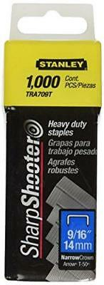 Stanley Tra709T 9/16 Inch Heavy Duty Narrow Crown Staples, Pack of 1000(Pack of