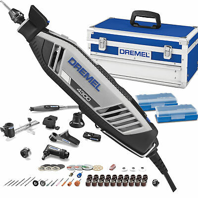 Dremel 4300-9/64 High Performance Rotary Tool Kit with Universal 3-Jaw Chuck New