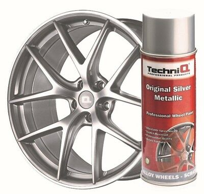 Alloy Wheel Spray Paint TechniQ  Silver Metallic 400ml Can Scratch Resistant