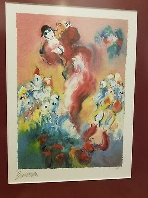 Rare Ben Avram Pencil Signed Limited Edition Lithograph Artist proof