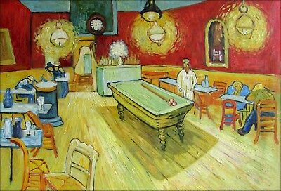 Van Gogh The Night Cafe Repro. Quality Hand Painted Oil Painting 24x36in