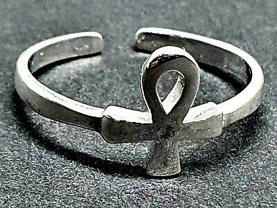 Egyptian Toe Ring Ankh Long Life Jewellery Adjustable 925 Sterling Silver