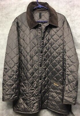 Men's Barbour Liddesdale Quilted Jacket Coat Overcoat Size Medium