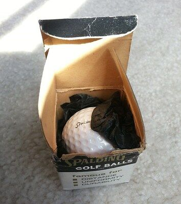 Old Vintage Rare Spalding Golf Ball In Original Single Box - Must See!!