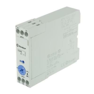 1 x Finder ON Delay Single Time Delay Relay, 24-240V ac, 24-48V dc, 1 Contact