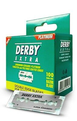 50 Derby Extra Double Edge Razor Blades | New Small Package | Barber Shop No.1