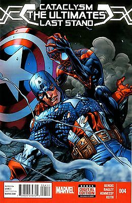 Cataclysm: The Ultimates' Last Stand Comic 4 Marvel 2014 Bendis Bagley Hennessy